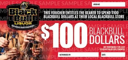 $100 Black Bull Voucher $100 Black Bull Voucher