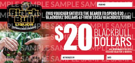 $20 Black Bull Voucher $20 Black Bull Voucher